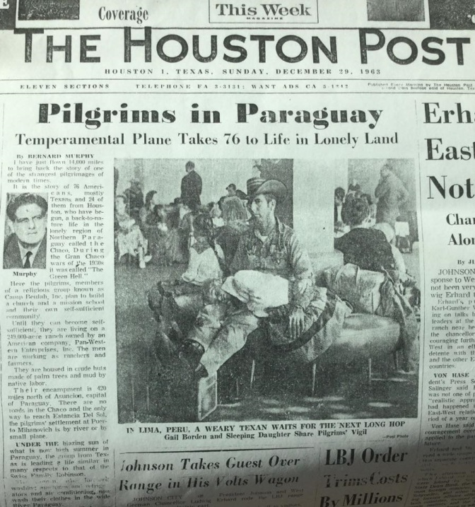 Pilgrims in Paraguay (Bernard Murphy)